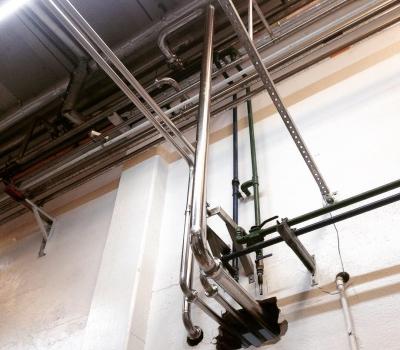 Tubulação de Gás para Indústria Alimentícia e Bebidas