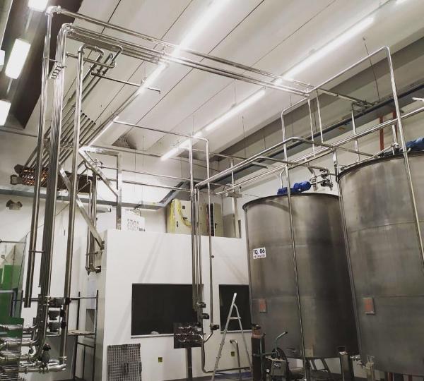 Tubulação de inox para Indústria de Cosméticos