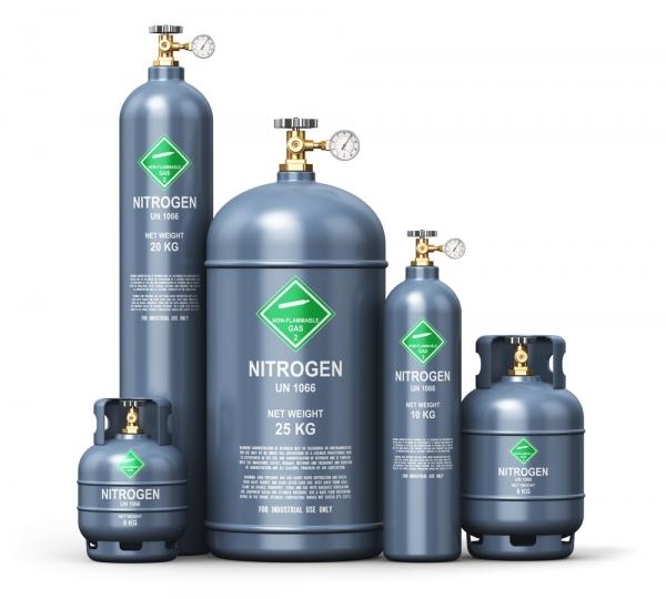 Montagem de Tubulação de Gás Nitrogênio