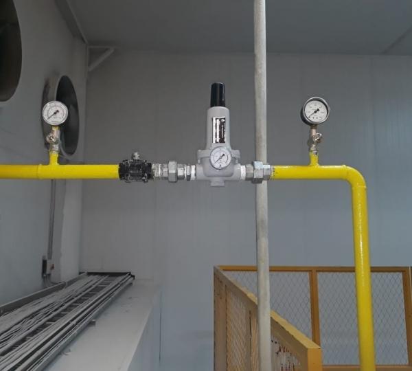 Tubulação de Gás Industrial em Taubaté